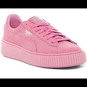 Puma Basket Platform Sneaker Pink